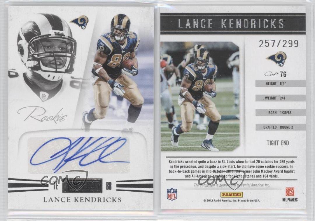 2011 Panini Playbook 76 Lance Kendricks St Louis Rams