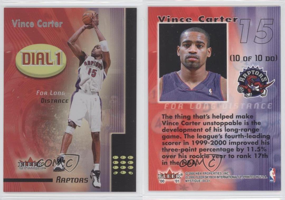 00-01 Vince Carter Fleer Mystique 99-00