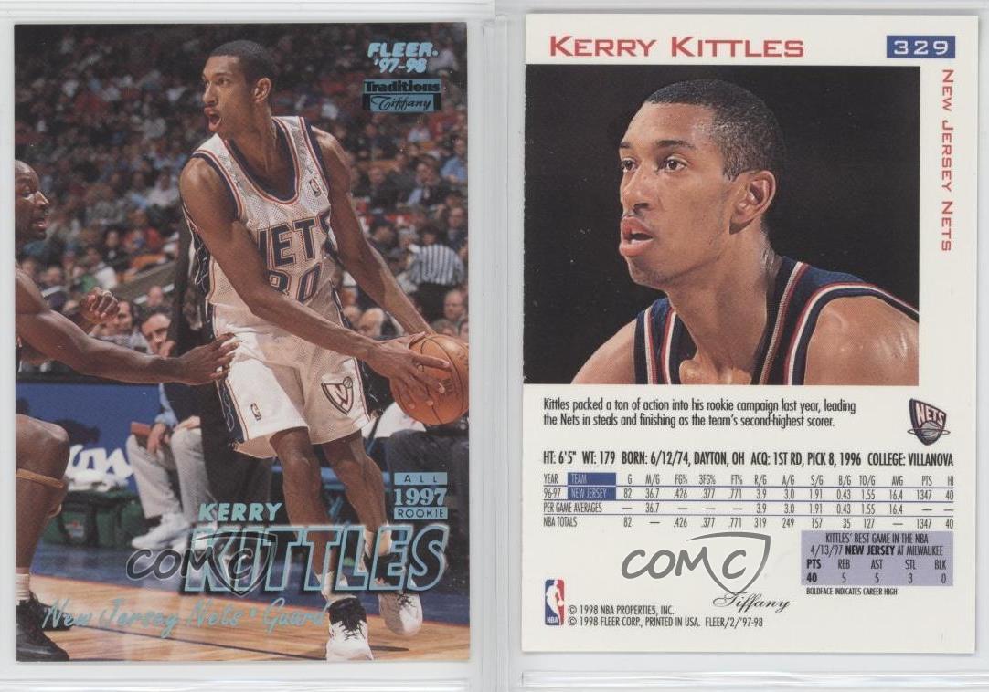 1997 98 Fleer Tiffany 329 Kerry Kittles New Jersey Nets