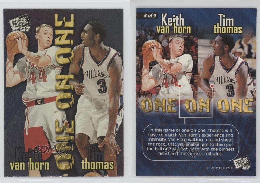 1997 98 Press Pass e on 4 Keith Van Horn Tim Thomas