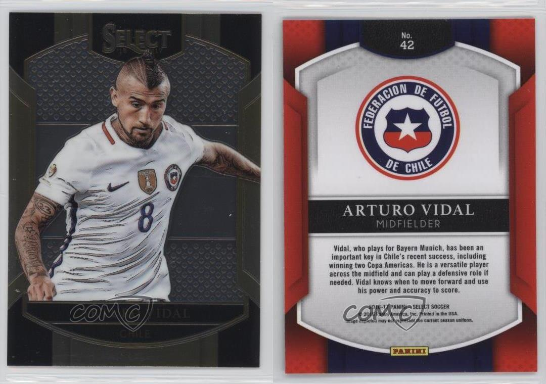 2016-2016-17-Panini-Select-42-Terrace-Arturo-Vidal-Chile-RC-Rookie-Soccer-Card