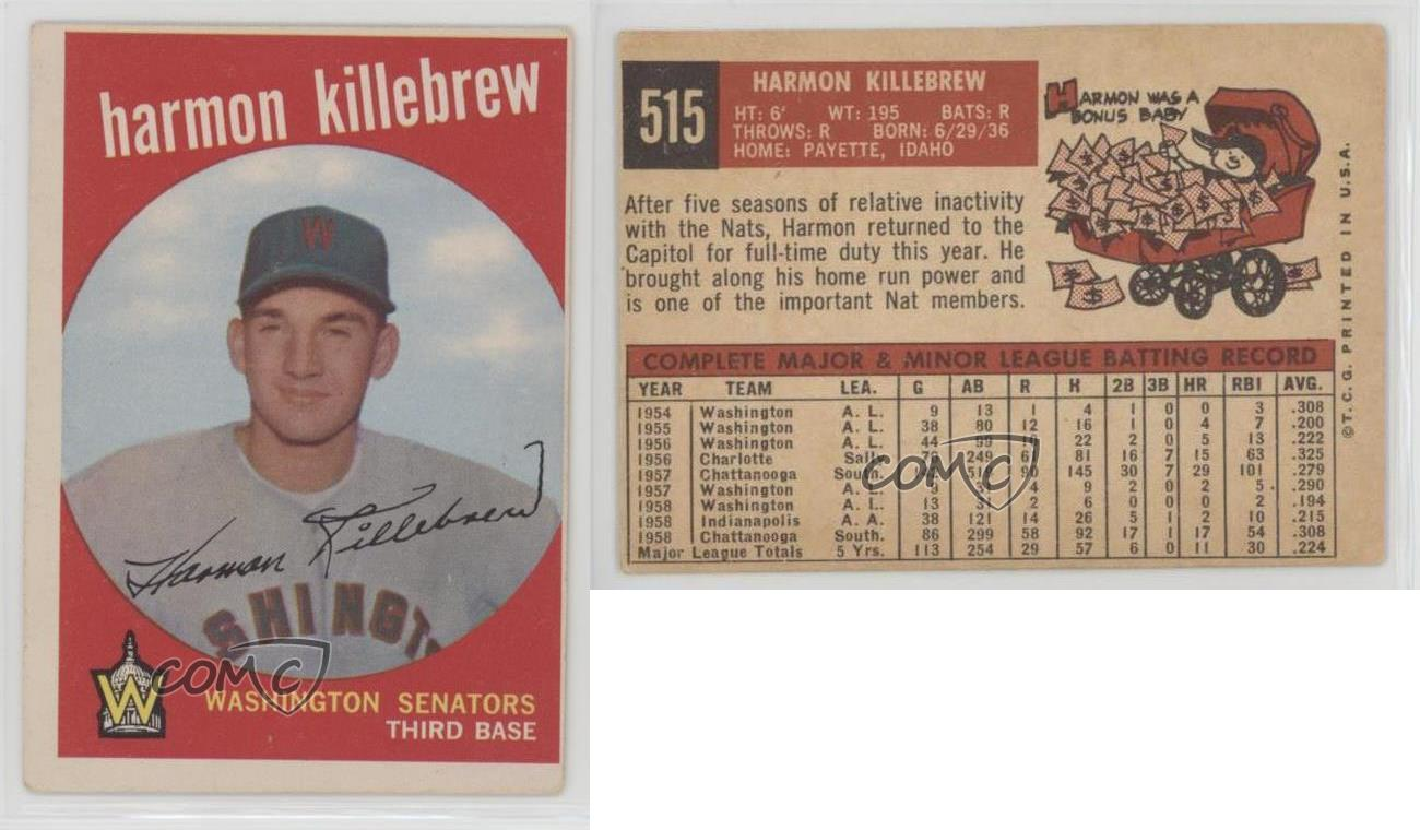 1959-Topps-515-Harmon-Killebrew-Washington-Senators-Baseball-Card