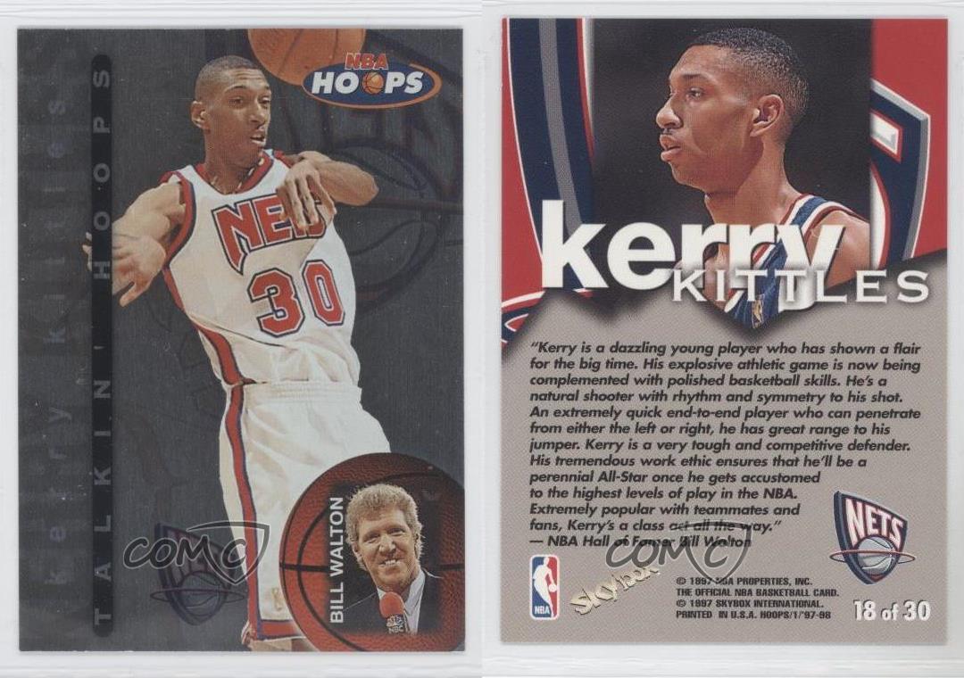 1997 98 NBA Hoops Talkin 18 Kerry Kittles New Jersey Nets