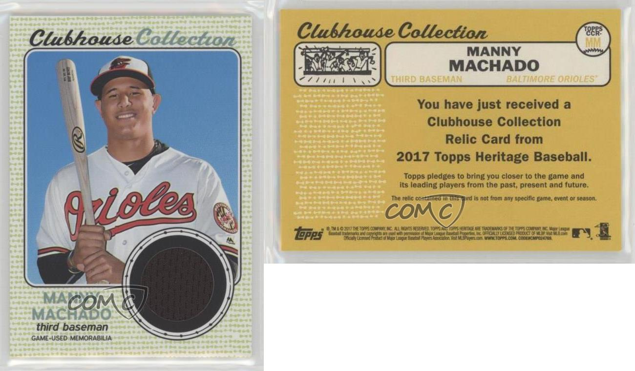 2017 Topps Heritage Clubhouse Collection Relics #CCR-MM Manny Machado Card