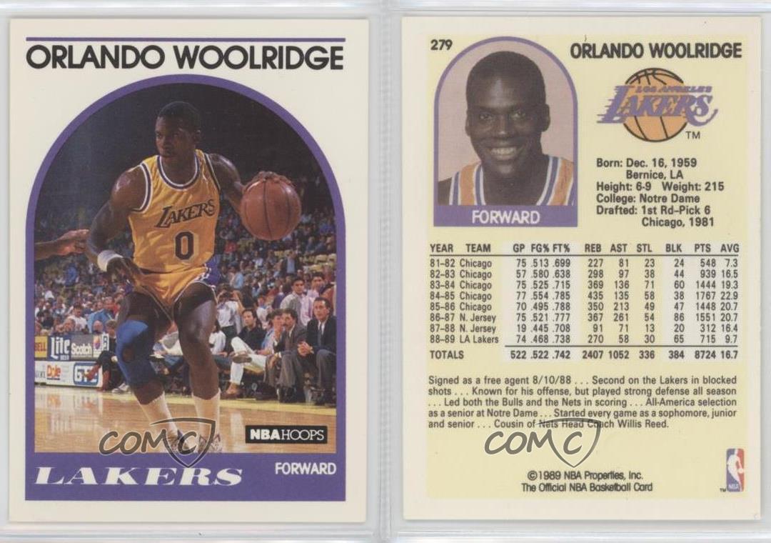 1989 NBA Hoops 279 2 Orlando Woolridge Corrected has TM next to
