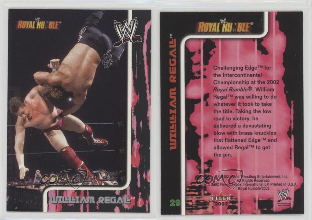 2002 Fleer WWE Royal Rumble 29 William Regal