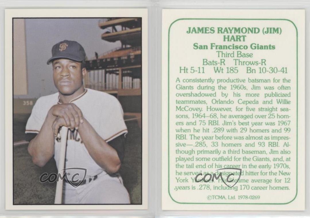 1978 TCMA The 1960/'s I Green Back #1978-0280 Willie Mays San Francisco Giants