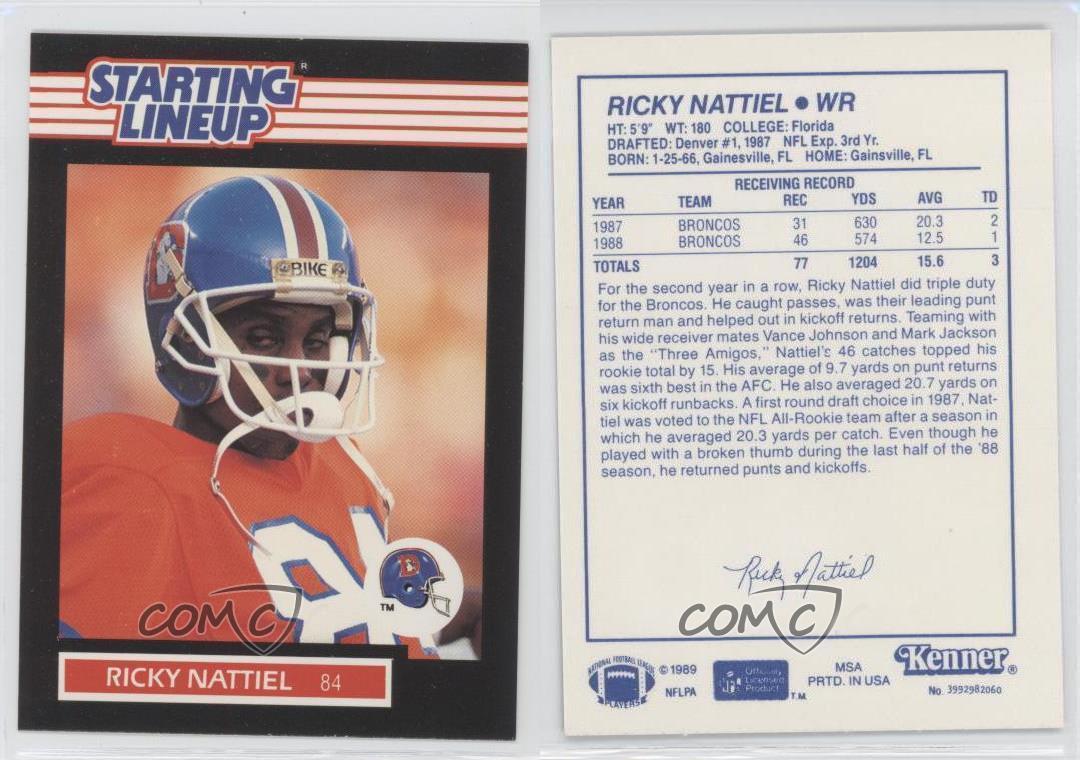 thumbnail 3 - 1989 Kenner Starting Lineup Ricky Nattiel