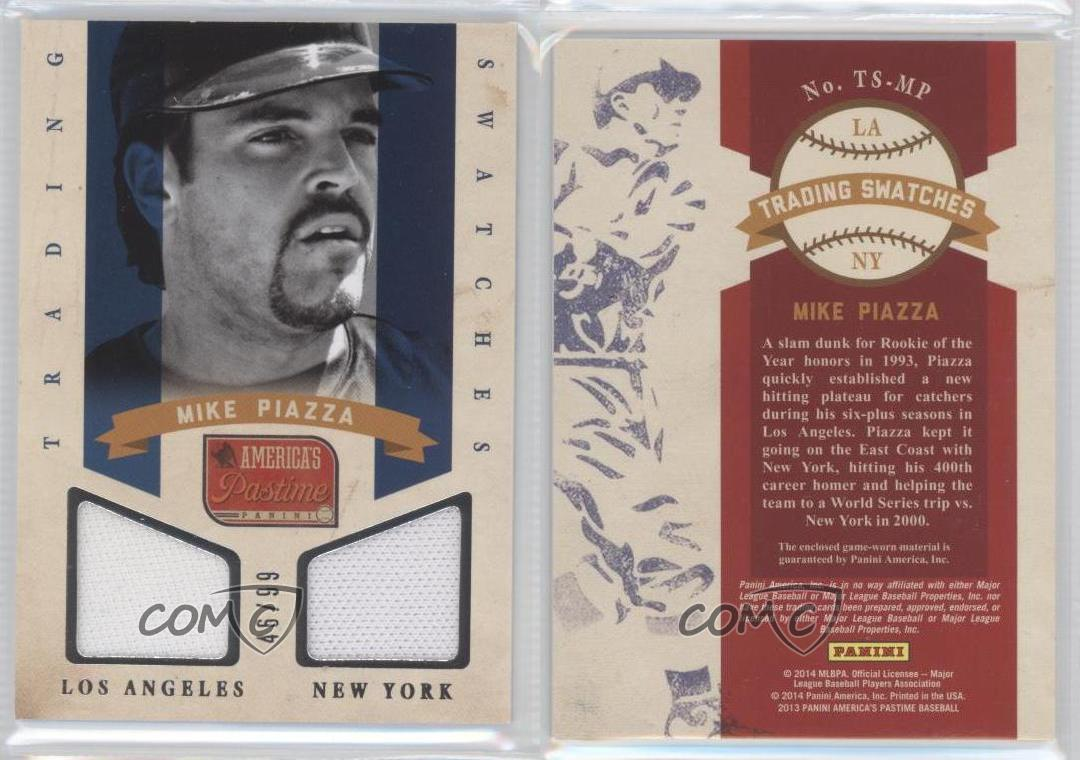 2013-Panini-America-039-s-Pastime-Trading-Swatches-TS-MP-Mike-Piazza-New-York-Mets