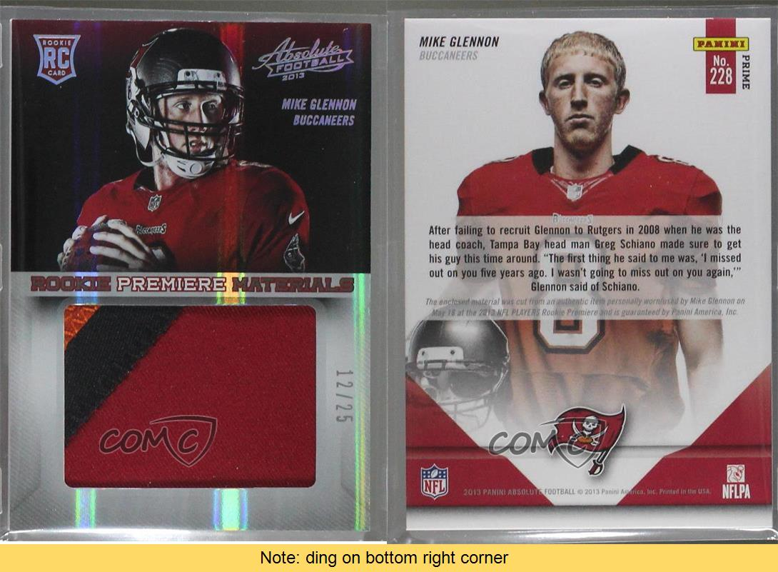 2013-Panini-Absolute-Rookie-Premiere-Materials-Jumbo-Prime-228-Mike-Glennon-Card