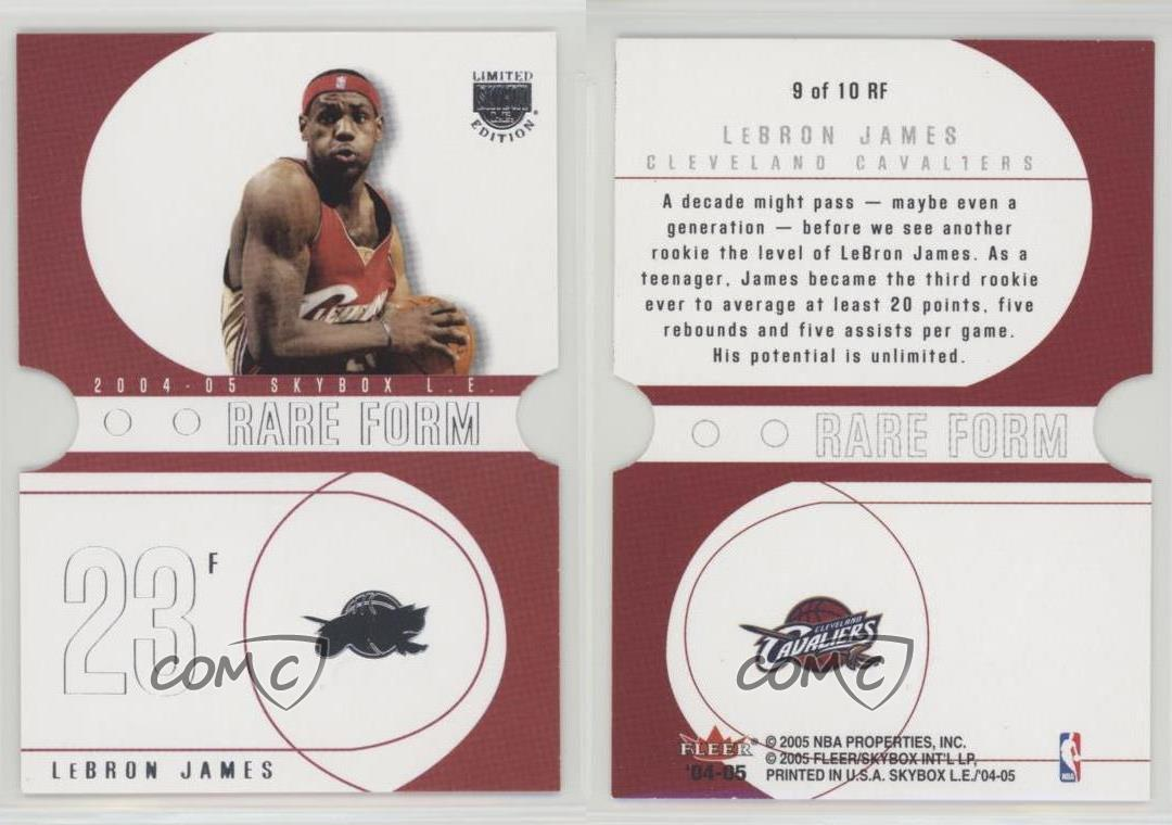 2004-05-Skybox-LE-Rare-Form-9RF-Lebron-James-Cleveland-Cavaliers-Basketball-Card