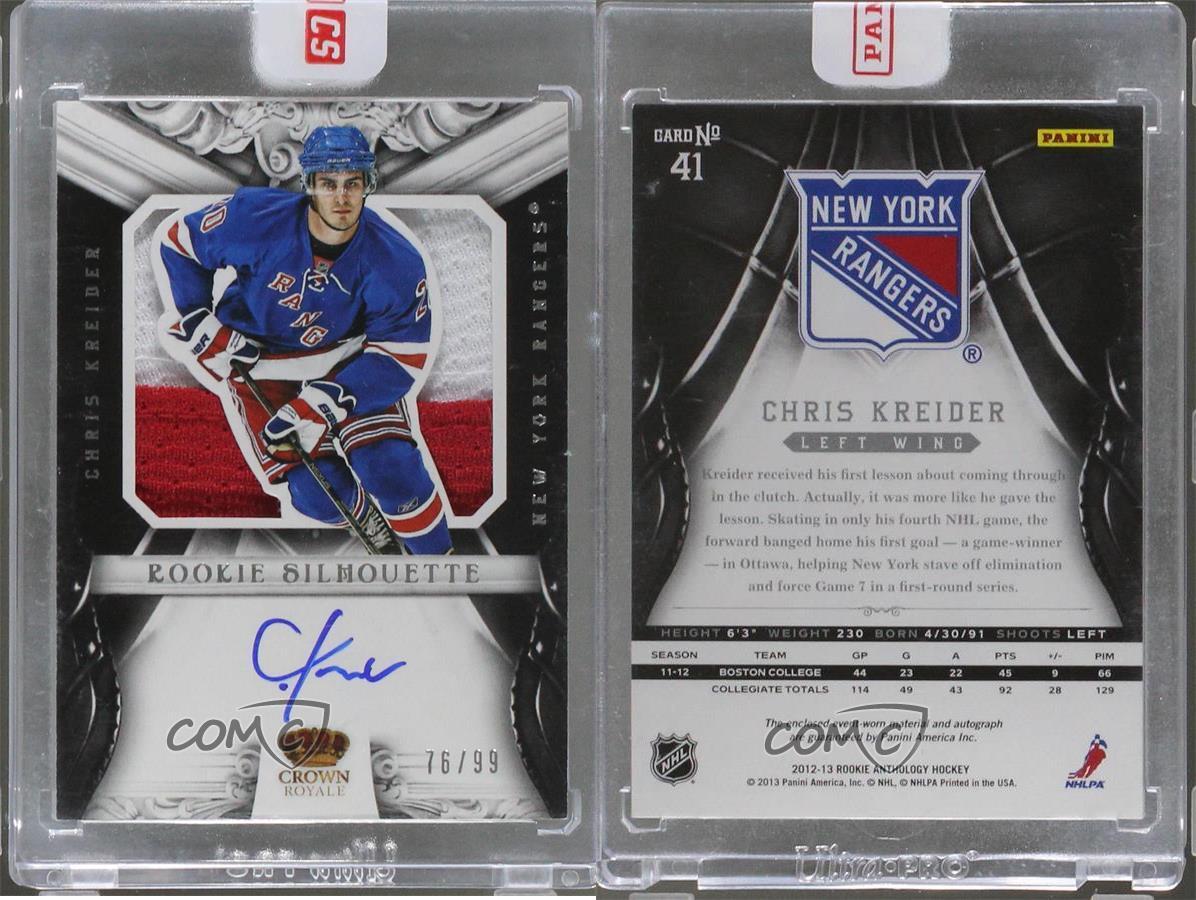 2012-Panini-Rookie-Anthology-41-Chris-Kreider-New-York-Rangers-Auto-Hockey-Card