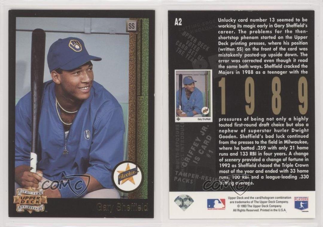 Gary Sheffield Baseball Card 1991 Upper Deck # 266 NM//MT