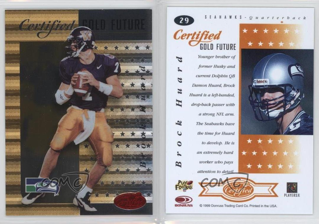 1999-Leaf-Certified-Gold-Future-29-Brock-Huard-Seattle-Seahawks-Football-Card