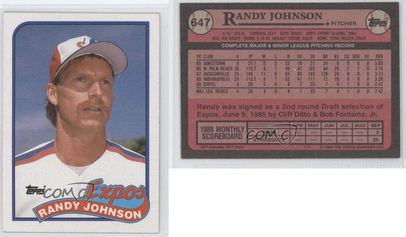Lot Detail 1989 Topps Traded 57t Randy Johnson Rc Rookie