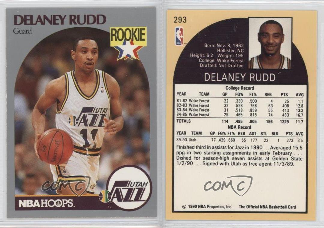 199091 nba hoops 293 delaney rudd utah jazz rc rookie