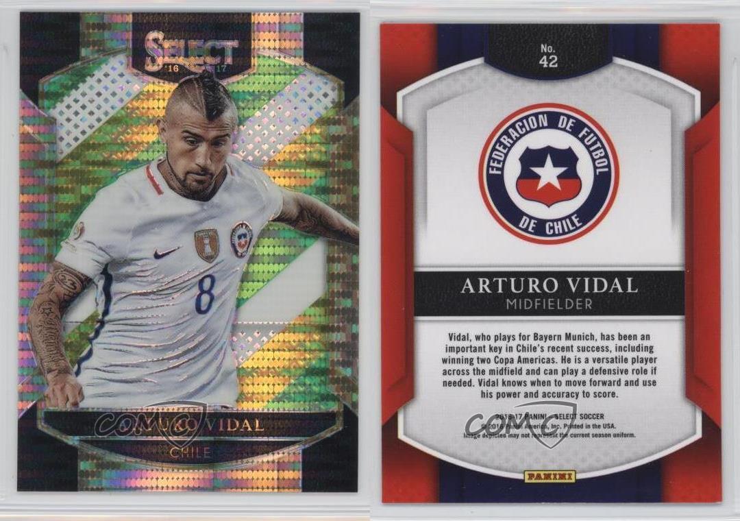 2016-2016-17-Panini-Select-Multi-Color-Prizm-42-Terrace-Arturo-Vidal-Chile-Card