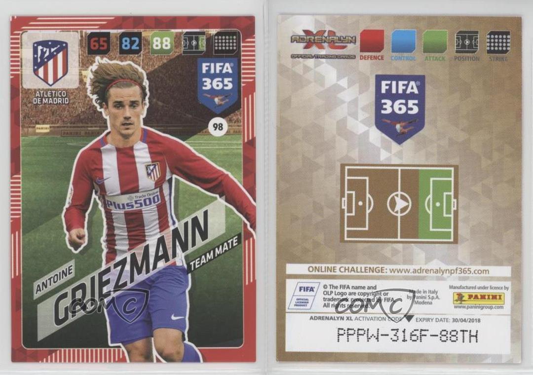 PANINI ADRENALYN XL FIFA 365 cards 2018 98 Antoine Griezmann Atlético de Madrid