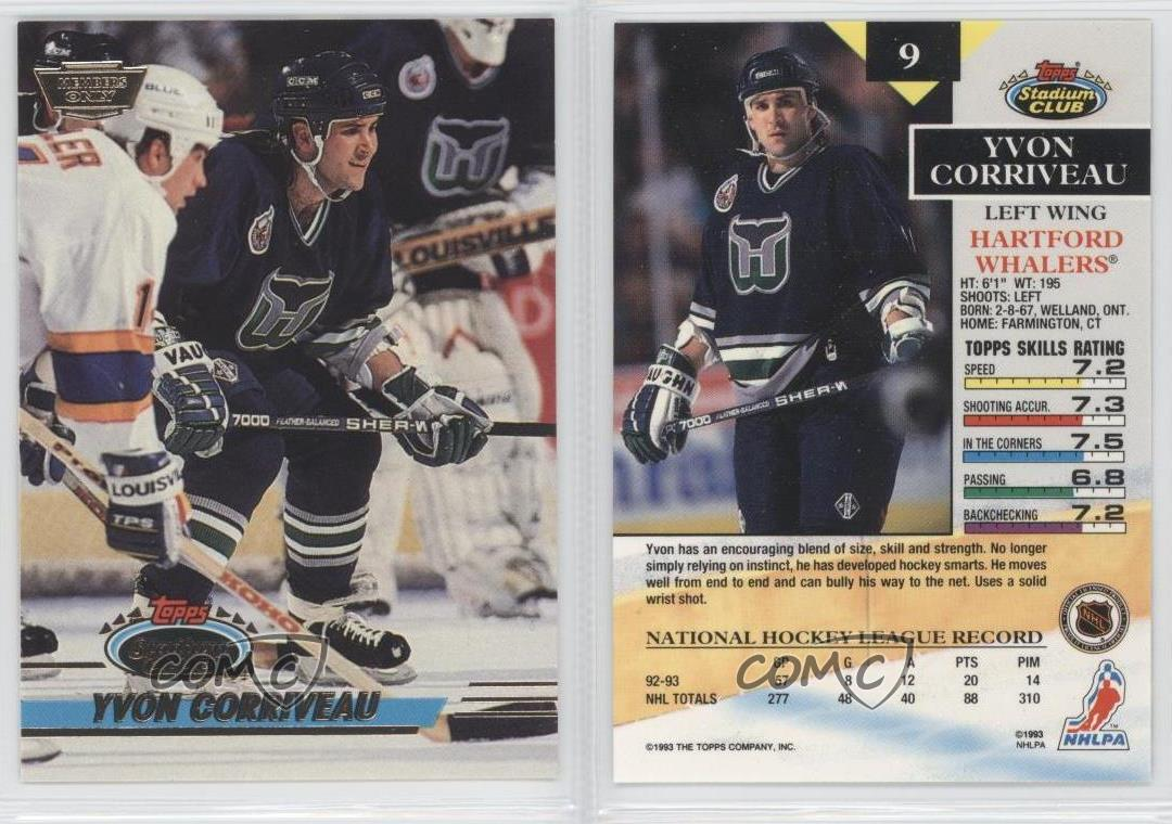 an overview of the club the hartford whalers in hockey Company/sponsor, date, item, image/description ac sales, 1995,  pog set aetna, 1980, bus tickets american airlines, 10/30/1990.