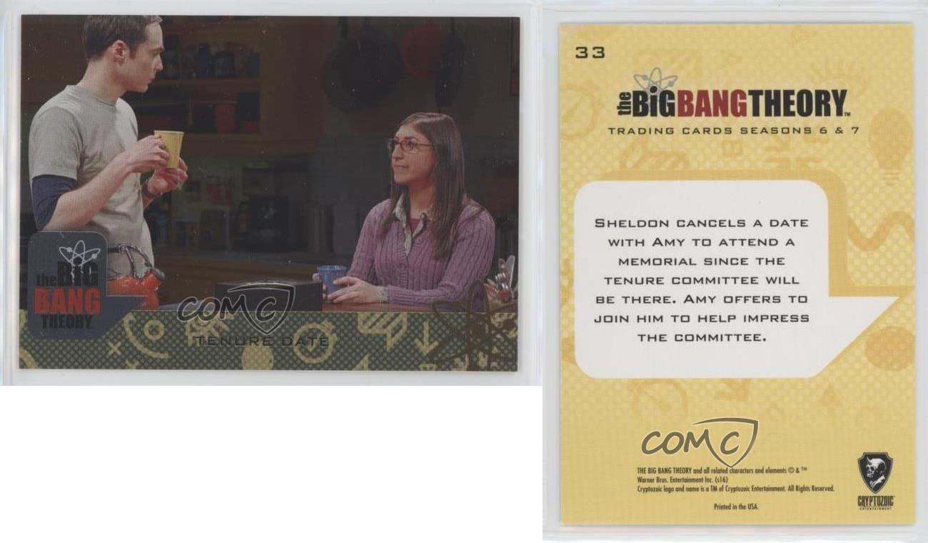 Big Bang Theory Seasons 6 /& 7 Silver Parallel Base Card #33 Tenure Date