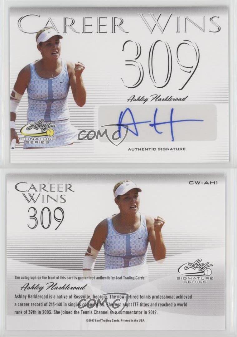 2017 Leaf Signature Series Tennis Ashley Harkleroad Career Wins Auto Autograph