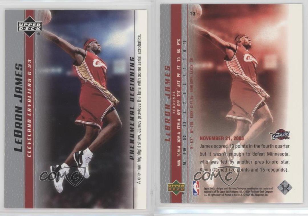 2003-04-Upper-Deck-Phenomenal-Beginning-Box-Set-Base-13-Lebron-James-Rookie-Card