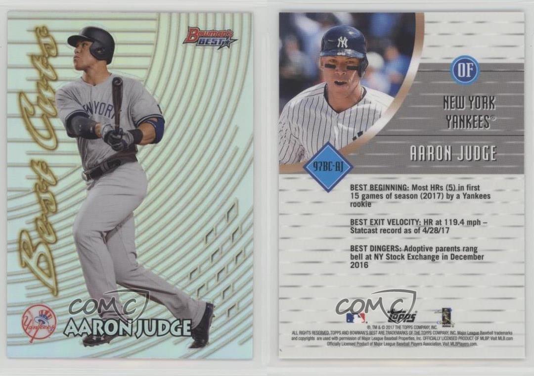 2017 Bowmans Best 1997 Cuts 97bc Aj Aaron Judge New York Yankees
