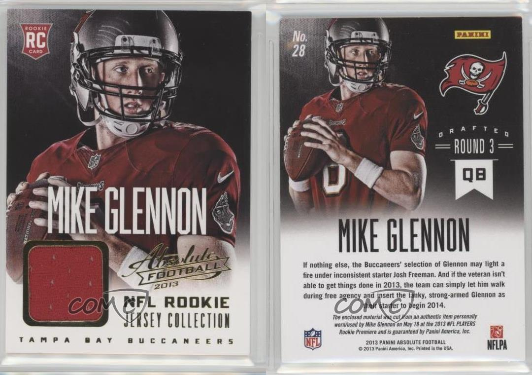 2013-Panini-Absolute-NFL-Rookie-Jersey-Collection-Excell-28-Mike-Glennon-Card