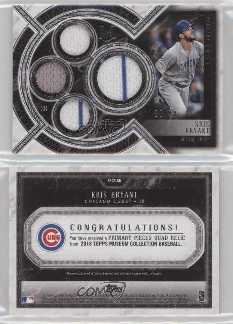 2018 Topps Museum Collection//99 #SPQR-KB Kris Bryant Chicago Cubs Baseball Card