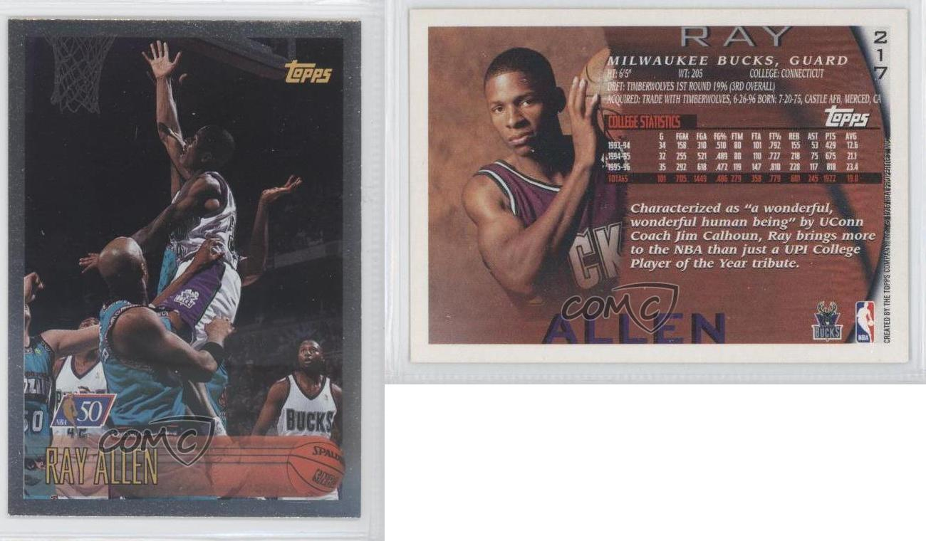 199697 topps foil nba 50 217 ray allen milwaukee bucks