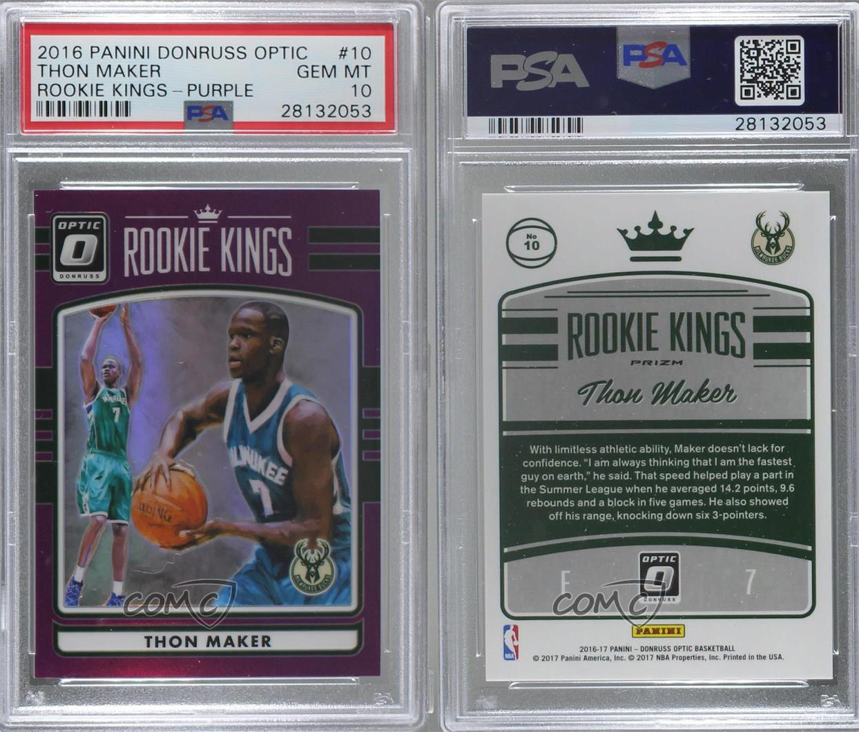 2016-17 Panini Donruss Optic Rookie Kings Purple #10 Thon