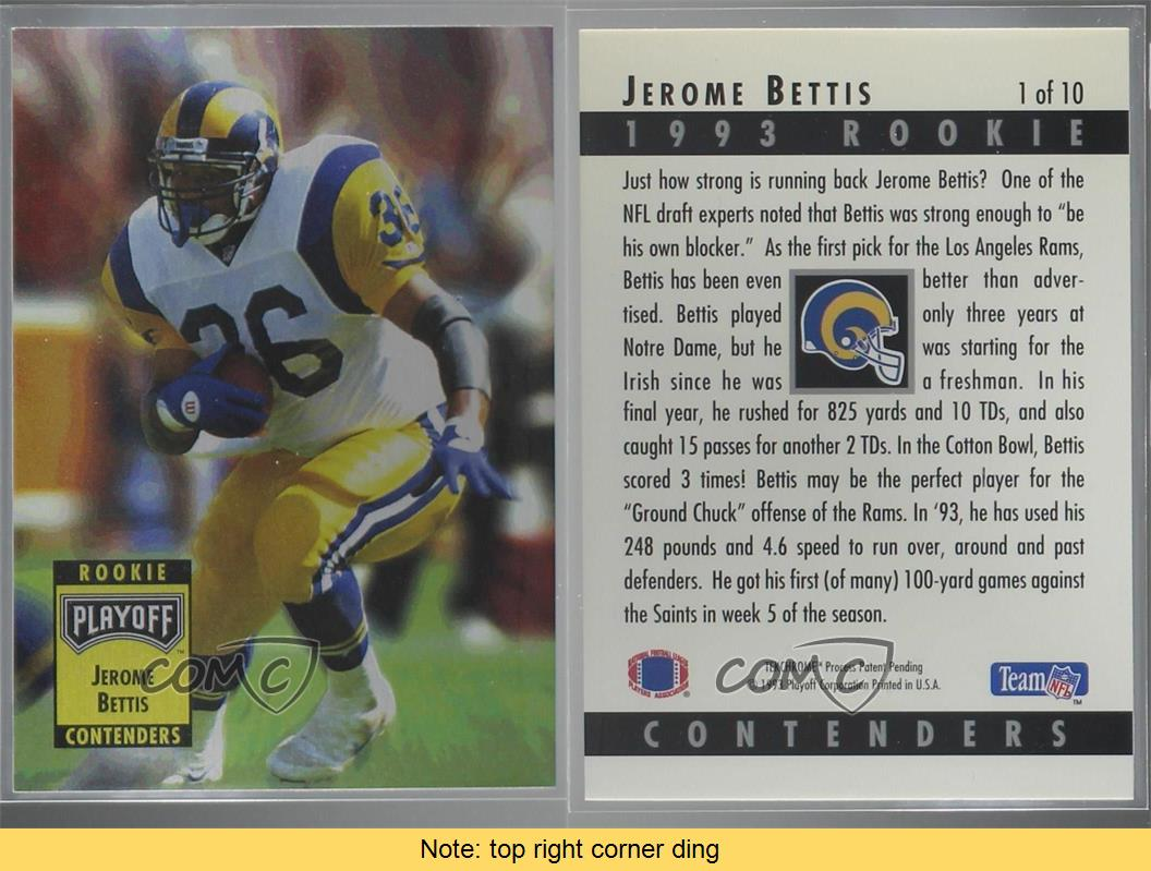 1993-Playoff-Contenders-Rookie-1-Jerome-Bettis-St-Louis-Rams-Football-Card