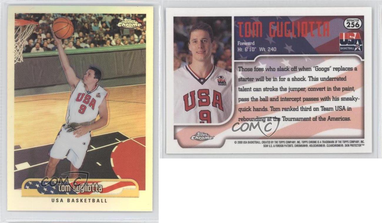 1999 00 Topps Chrome Refractor 256 Tom Gugliotta Team USA