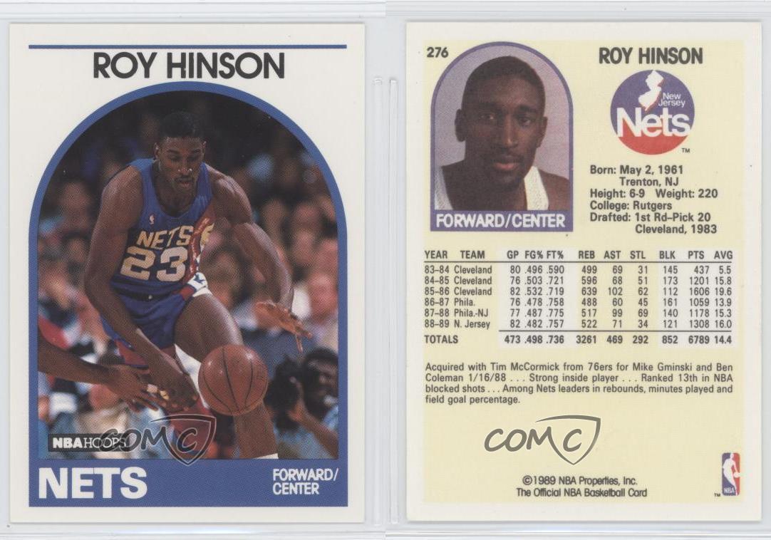 1989 90 Nba Hoops 276 Roy Hinson New Jersey Nets Baloncesto
