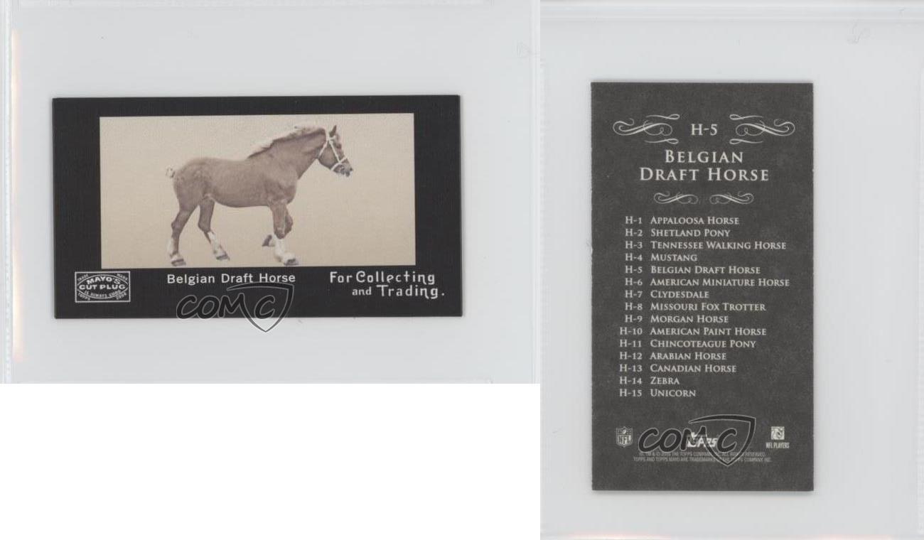 2008-Topps-Mayo-Horses-Mini-H-5-Belgian-Draft-Horse-Football-Card