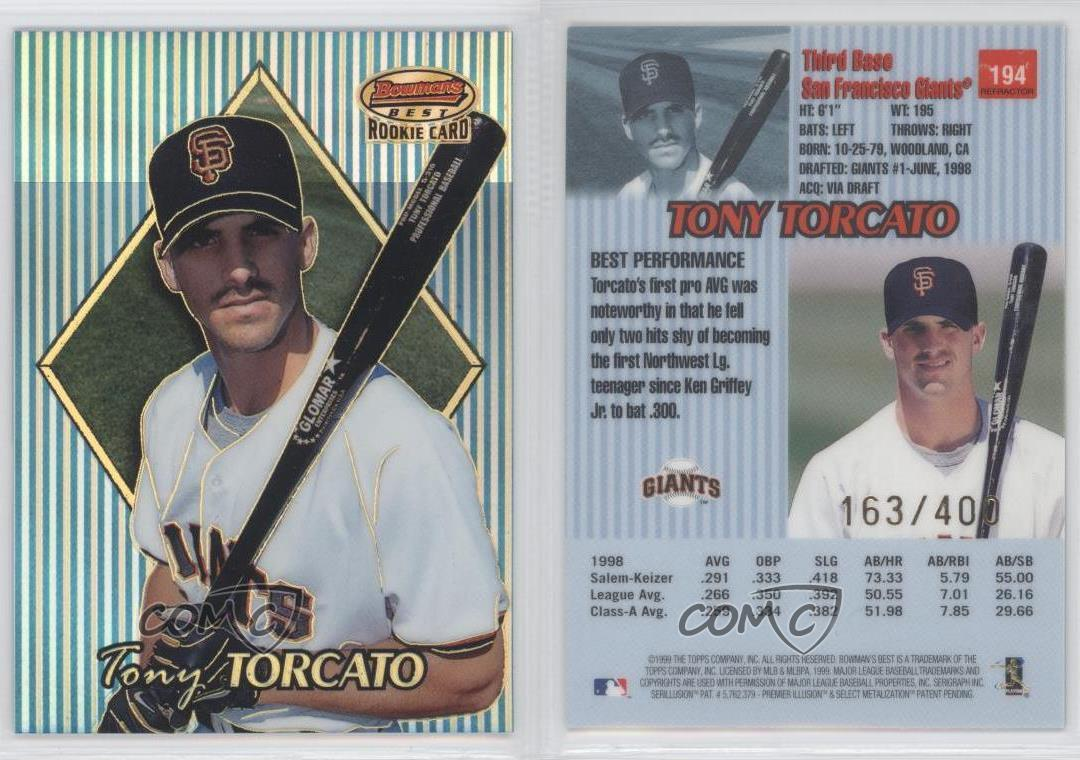 1999-Bowman-039-s-Best-Refractor-194-Tony-Torcato-San-Francisco-Giants-Baseball-Card