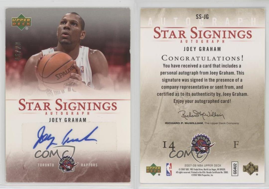 COREY MAGGETTE 2007-08 UPPER DECK STAR SIGNINGS AUTO