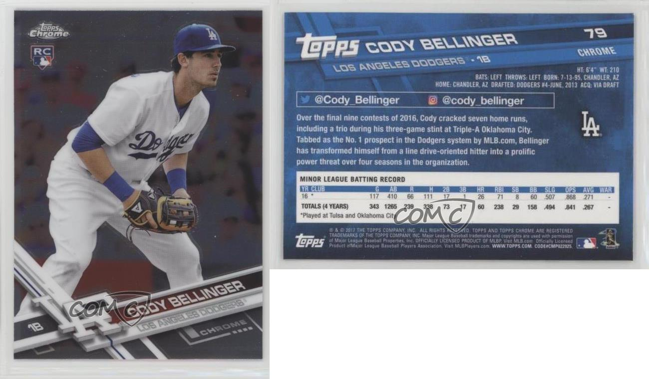 2017-Topps-Chrome-79-Cody-Bellinger-Los-Angeles-Dodgers-RC-Rookie-Baseball-Card