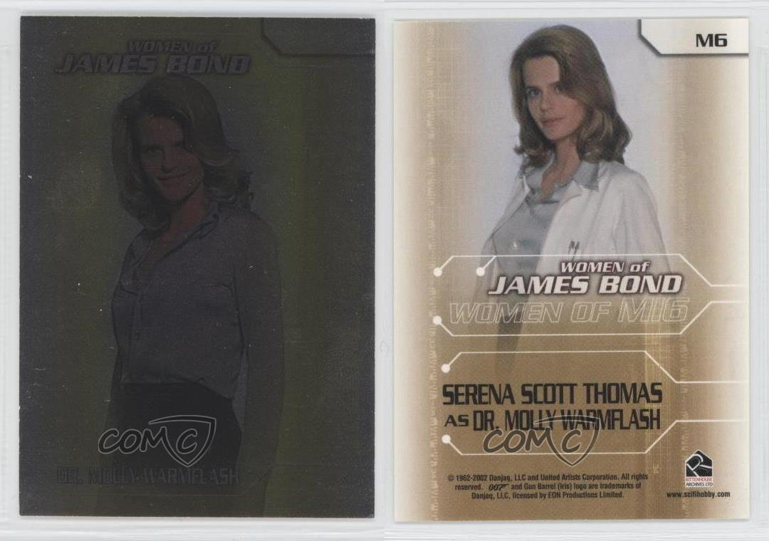 "2003 6 Card /""Women Of MI6/"" Chase Set M1-M6 The Women Of James Bond In Motion"