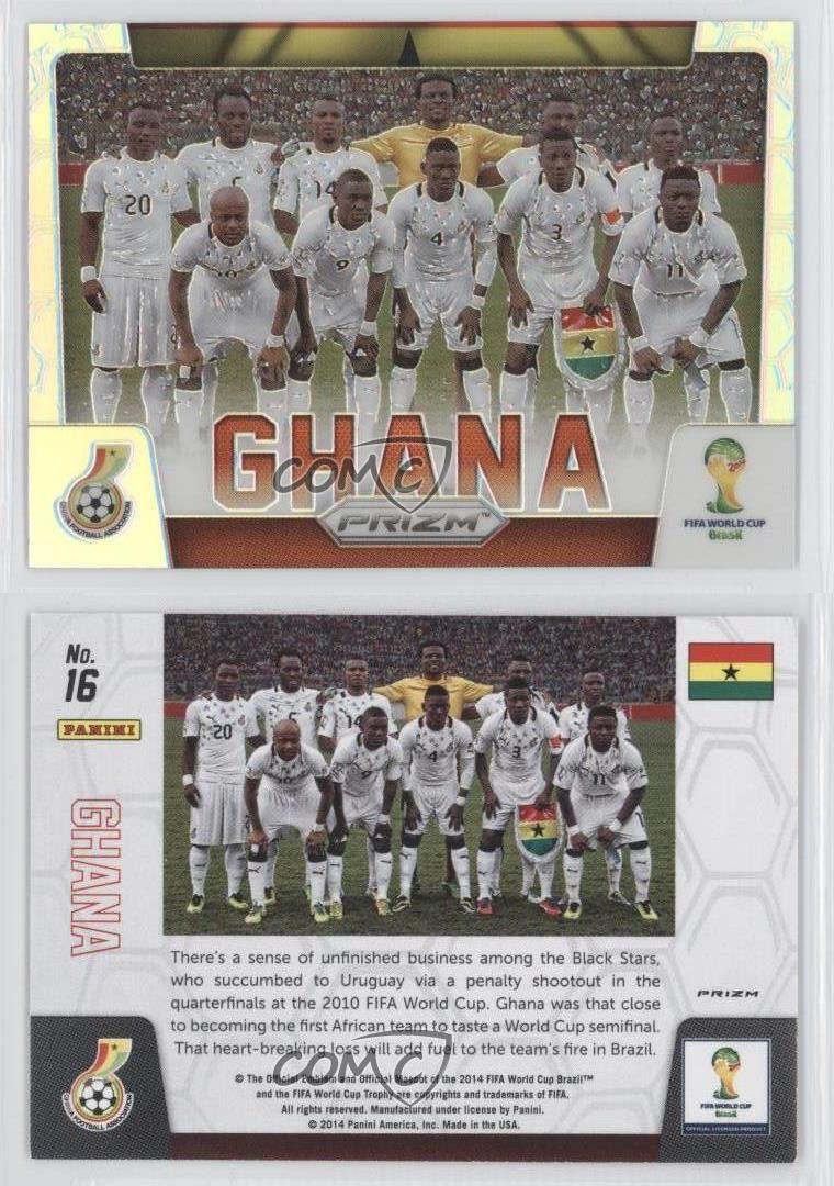 2014 Panini Prizm Copa del Mundo de las fotos de su elección de equipo de fútbol