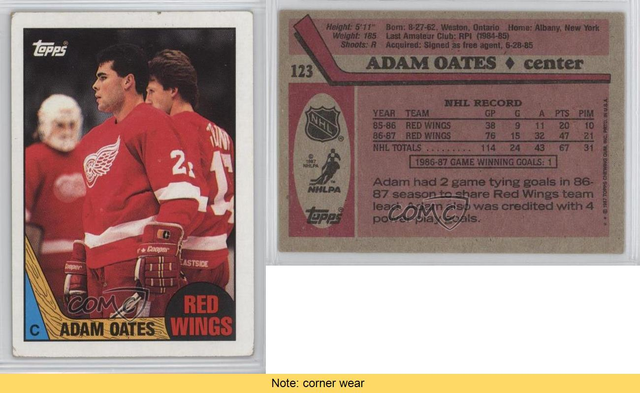 1987-88-Topps-123-Adam-Oates-Detroit-Red-Wings-RC-Rookie-Hockey-Card