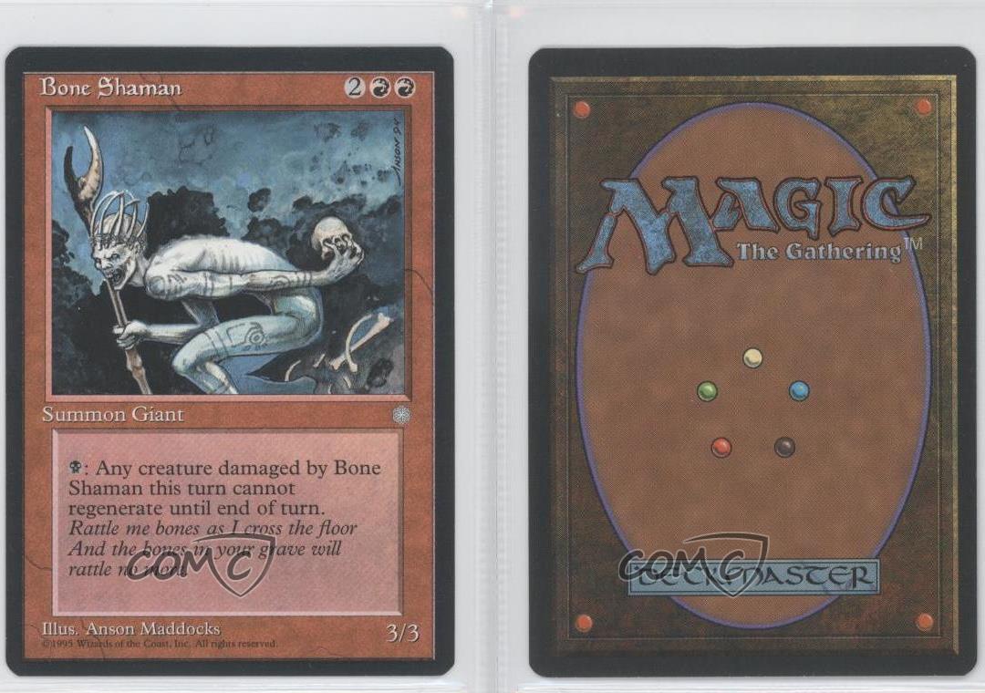 4x Bone Shaman MTG Ice Age NM Magic Regular