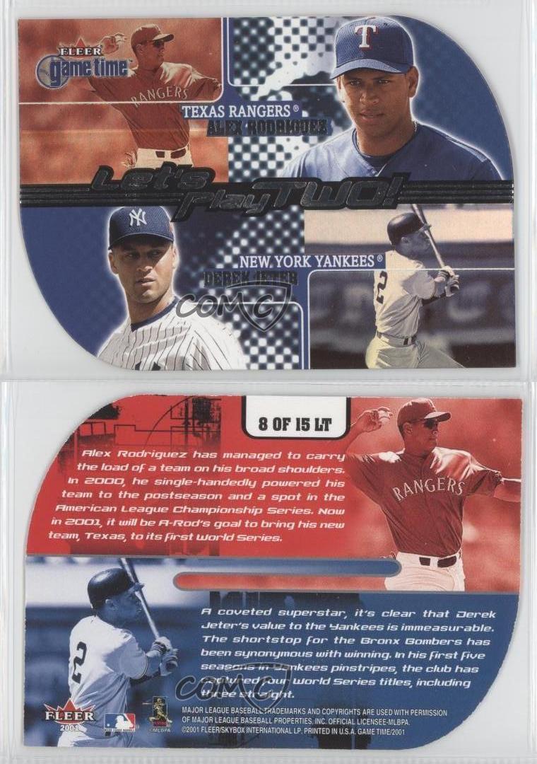 2001 Fleer Game Time Let/'s Play Dos #11LT Jeff Bagwell Craig Biggio tarjeta