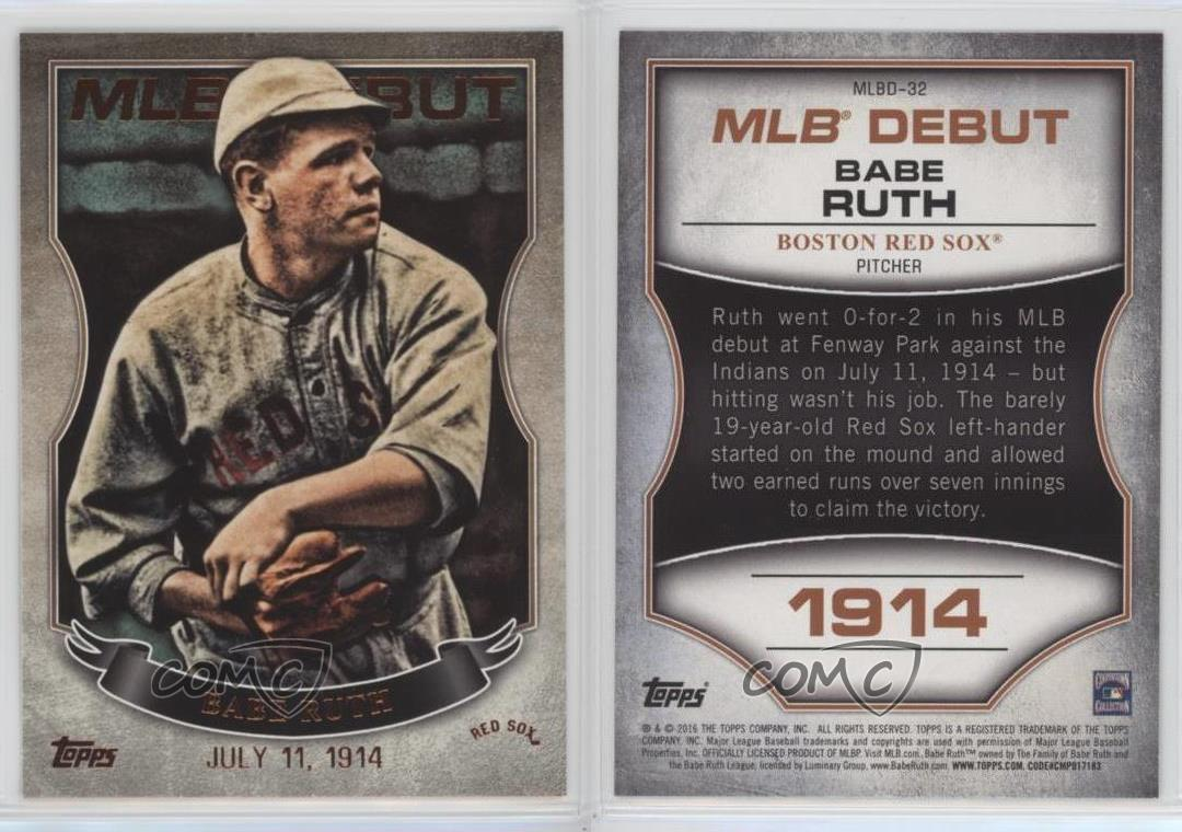 Image result for babe ruth makes his mlb debut with the red sox