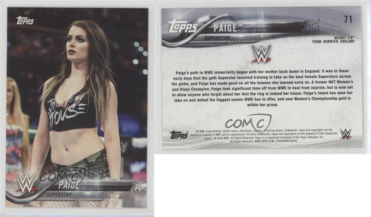 2018-Topps-WWE-71-Paige-Wrestling-Card