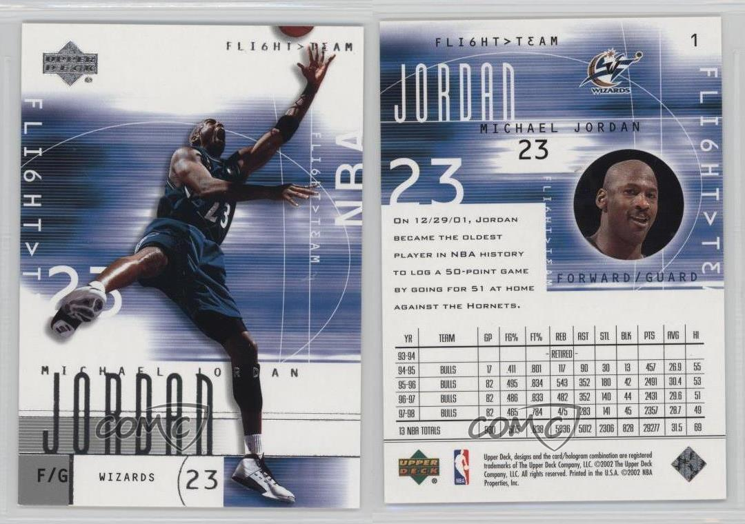 2001-Upper-Deck-Flight-Team-1-Michael-Jordan-Washington-Wizards-Basketball-Card