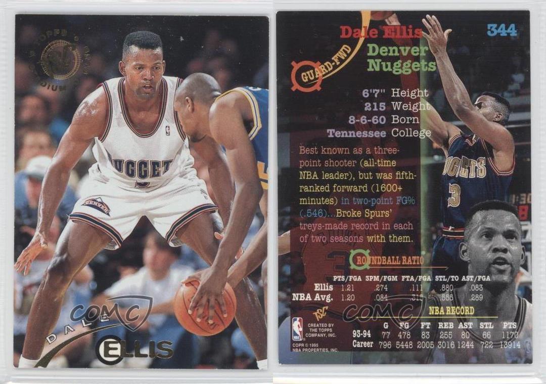 1994 95 Topps Stadium Club 344 Dale Ellis Denver Nug s