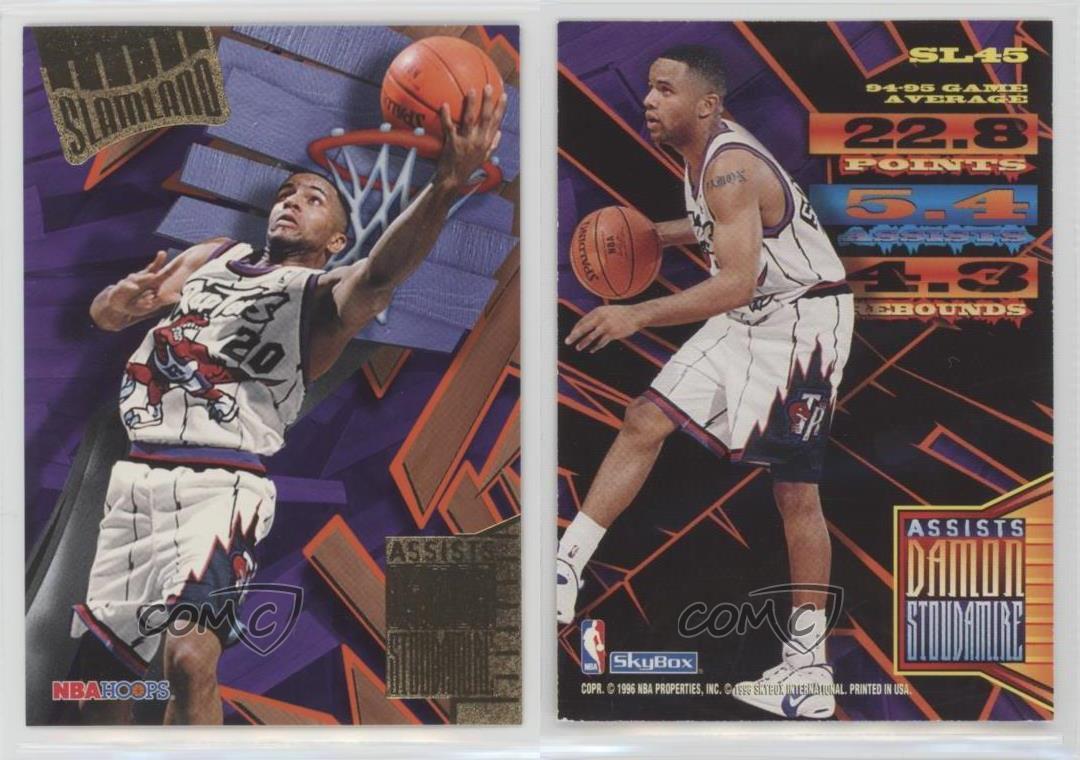 8bc56be9289 1995-96 NBA Hoops Slamland SL45 Damon Stoudamire Toronto Raptors ...