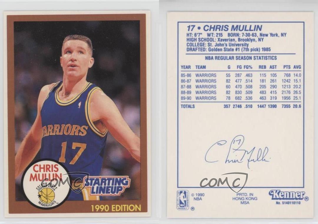 thumbnail 3 - 1990-91 Kenner Starting Lineup Chris Mullin (Brown Border) HOF