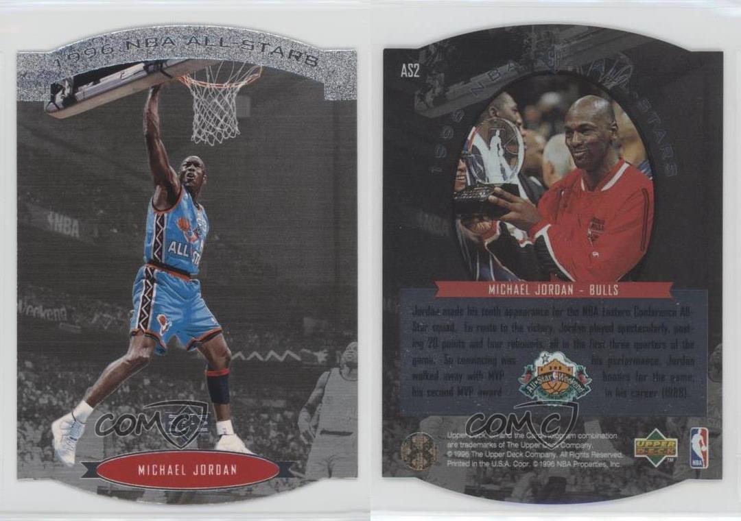 1995-96-SP-NBA-All-Stars-Die-Cut-AS2-Michael-Jordan-Chicago-Bulls-All-Star-Team